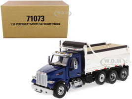 Peterbilt 567 Dump Truck Legendary Blue Chrome Transport Series 1/50 Diecast Model Diecast Masters 71073