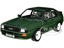 1985 Audi Sport Quattro Dark Green 1/18 Diecast Model Car Norev 188317
