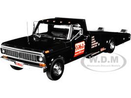 1970 Ford F-350 Ramp Truck FoMoCo Parts Black 1/18 Diecast Model Car ACME A1801408