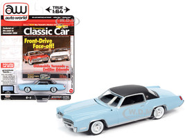1967 Cadillac Eldorado Venetian Blue Flat Black Vinyl Top Hemmings Classic Car Magazine Cover Car December 2006 Limited Edition 10120 pieces Worldwide 1/64 Diecast Model Car Autoworld 64272 AWSP047 B