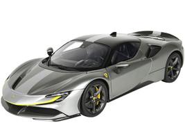Ferrari SF90 Stradale Race Version Iron Gray Metallic DISPLAY CASE Limited Edition 229 pieces Worldwide 1/18 Model Car BBR P18180RA