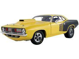 1972 Plymouth HEMI Drag Barracuda Lemon Twist Yellow Black Limited Edition 642 pieces Worldwide 1/18 Diecast Model Car ACME A1806118