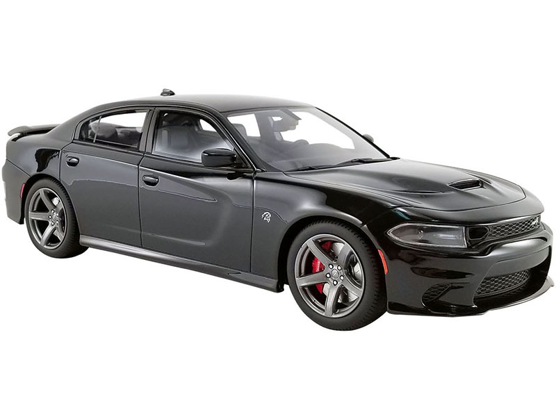 2019 Dodge Charger SRT Hellcat Pitch Black USA Exclusive Series 1/18 Model Car GT Spirit ACME US025