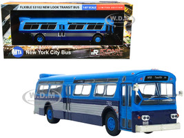 Flxible 53102 Transit Bus Twelfth Ave MTA New York City Blue Silver 1/87 Diecast Model Iconic Replicas 87-0238