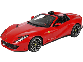 2019 Ferrari 812 GTS Convertible Rosso Corsa 322 Red DISPLAY CASE Limited Edition 199 pieces Worldwide 1/18 Model Car BBR P18184B