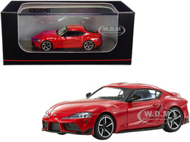 Toyota GR Supra RHD Right Hand Drive Red 1/64 Diecast Model Car Kyosho KS07110R
