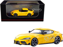 Toyota GR Supra RHD Right Hand Drive Yellow 1/64 Diecast Model Car Kyosho KS07110Y