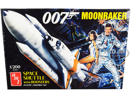 Skill 2 Model Kit Space Shuttle Boosters Moonraker 1979 Movie James Bond 007 1/200 Scale Model AMT AMT1208