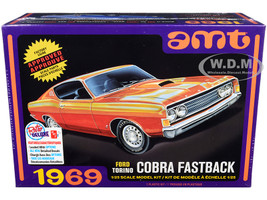 Skill 2 Model Kit 1969 Ford Torino Cobra Fastback 3-in-1 Kit 1/25 Scale Model AMT AMT1217M