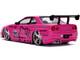 2002 Nissan Skyline GT-R BNR34 RHD Right Hand Drive Pink Metallic Black Hello Kitty Diecast Figurine 1/24 Diecast Model Car Jada 31613