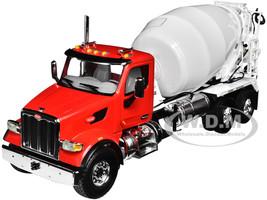 Peterbilt 567 with McNeilus Standard Mixer Red White 1/34 Diecast Model First Gear 10-4194