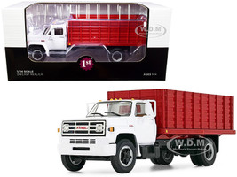 GMC 6500 Grain Truck White Red 1/34 Diecast Model First Gear 10-4216