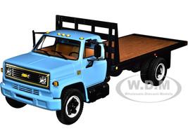 Chevrolet C65 Flatbed Truck Blue Black 1/34 Diecast Model First Gear 10-4217