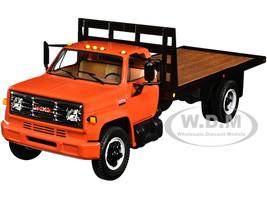 GMC 6500 Flatbed Truck Orange Black 1/34 Diecast Model First Gear 10-4218