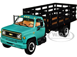 Chevrolet C65 Stake Truck Green Black 1/34 Diecast Model First Gear 10-4219