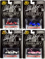 Carroll Shelby 50th Anniversary 4 piece Set 1/64 Diecast Model Cars Shelby Collectibles 16403 N