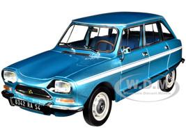 1974 Citroen Ami Super Delta Blue Metallic White Stripes 1/18 Diecast Model Car Norev 181672