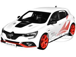 2019 Renault Megane R.S Trophy-R White Red Graphics Wheels 118 Diecast Model Car Norev 185239