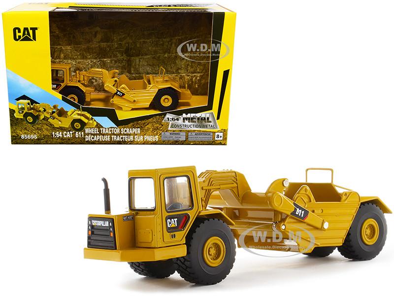 CAT Caterpillar 611 Wheel Tractor Scraper Play & Collect Series 1/64 Diecast Model Diecast Masters 85695