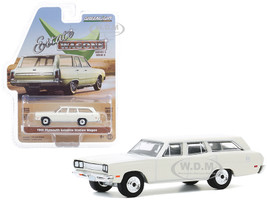 1969 Plymouth Satellite Station Wagon Alpine White Estate Wagons Series 5 1/64 Diecast Model Car Greenlight 29990 B
