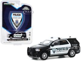 2018 Dodge Durango Police Black White Policia Municipal de San Juan Puerto Rico Hobby Exclusive 1/64 Diecast Model Car Greenlight 30197