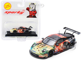 Porsche 911 RSR #56 Bergmeister Lindsey Perfetti Team Project 1 Winner LMGTE Am Class 24H of Le Mans 2019 1/64 Diecast Model Car Sparky Y142B