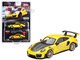 Porsche 911 GT2 RS Racing Yellow Gold Wheels Limited Edition 2400 pieces Worldwide 1/64 Diecast Model Car True Scale Miniatures MGT00136