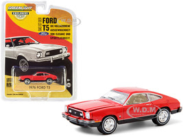 1976 Ford T5 Vermilion Red Black Bottom Hobby Exclusive 1/64 Diecast Model Car Greenlight 30204