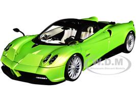 Pagani Huayra Roadster Verde Firenze Green Metallic Carbon Luggage Set 1/18 Model Car Autoart 78288