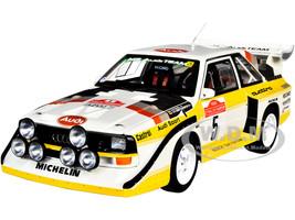 Audi Quattro S1 #5 Roehrl Geistdoerfer Winner Rally San Remo 1985 1/18 Model Car Autoart 88503