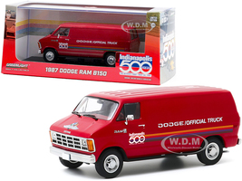 1987 Dodge Ram B150 Van Red Stripes 71st Annual Indianapolis 500 Mile Race Official Truck 1/43 Diecast Model Greenlight 86576