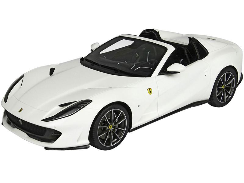 2019 Ferrari 812 GTS Convertible Avus White DISPLAY CASE Limited Edition 32 pieces Worldwide 1/18 Model Car BBR P18184E
