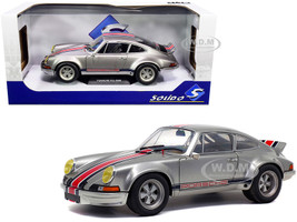 Porsche 911 RSR Silver Metallic Stripes Backdating Outlaw 1/18 Diecast Model Car Solido S1801112