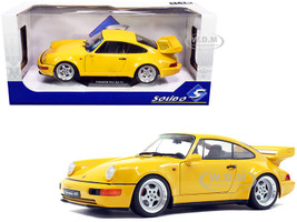 1990 Porsche 911 964 3.8 RS Jaune Yellow 1/18 Diecast Model Car Solido S1803401