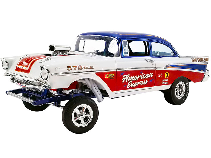 1957 Chevrolet Bel Air Gasser American Express Limited Edition 1020 pieces Worldwide 1/18 Diecast Model Car ACME A1807007