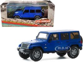 2013 Jeep Wrangler Unlimited Freedom Edition True Blue All-Terrain Series 1/43 Diecast Model Car Greenlight 86185