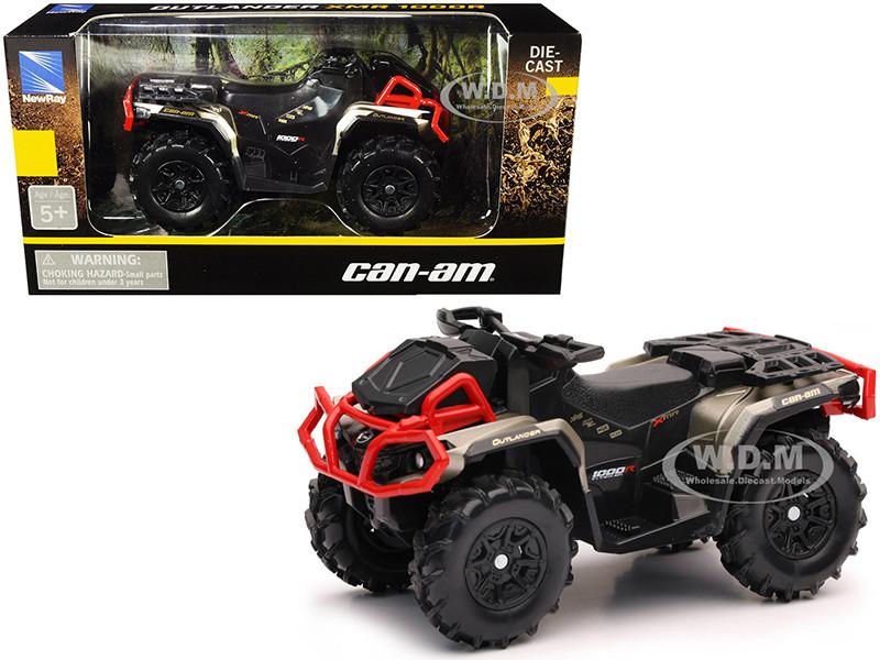 Can-Am Outlander XMR 1000R ATV Black Gold Diecast Model New Ray 07373