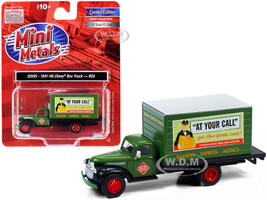 1941 1946 Chevrolet Box Truck Green Railway Express Company 1/87 HO Scale Model Classic Metal Works 30595