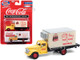 1941 1946 Chevrolet Box Truck Yellow Cream Coca Cola 1/87 HO Scale Model Classic Metal Works 30597