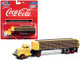 White WC22 Truck Tractor Bottle Trailer Yellow Coca Cola 1/87 HO Scale Model Classic Metal Works 31199