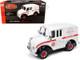 1950 Divco Delivery Truck Schwinn White Red Stripe 1/24 Diecast Model Car Autoworld AW24009