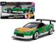 2002 Honda NSX Type-R Japan Spec Green Ranger Power Rangers 1/32 Diecast Model Car Jada 31843