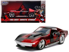 1969 Chevrolet Corvette Stingray Harley Quinn DC Comics Hollywood Rides Series 1/32 Diecast Model Car Jada 32095