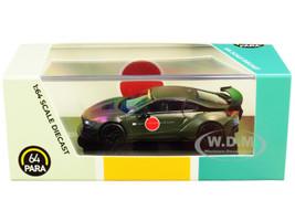 BMW i8 Zero Liberty Walk Dark Green 1/64 Diecast Model Car Paragon PA-55145