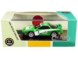 Mitsubishi 3000GT GTO RHD Right Hand Drive #3 Puma Green White 1/64 Diecast Model Car Paragon PA-65134