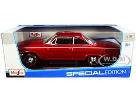 1962 Chevrolet Bel Air Burgundy Black Interior Special Edition 1/18 Diecast Model Car Maisto 31641