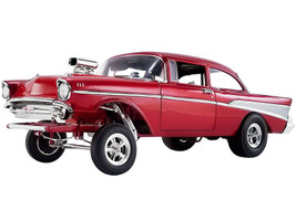 1957 Chevrolet Bel Air Gasser Rat Fink Gasser Red Metallic Limited Edition 1098 pieces Worldwide 1/18 Diecast Model Car ACME A1807008