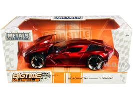2009 Chevrolet Corvette Stingray Concept Red Metallic Bigtime Muscle 1/24 Diecast Model Car Jada 97467