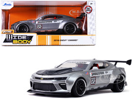 2016 Chevrolet Camaro Widebody #02 Bridgestone Silver Bigtime Muscle 1/24 Diecast Model Car Jada 32300