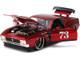 1973 Ford Mustang Mach 1 #73 Red Bigtime Muscle 1/24 Diecast Model Car Jada 32301